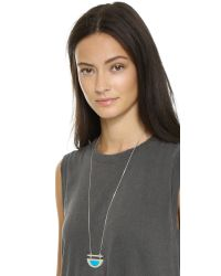 Madewell - Half Plane Pendant Necklace - Beachside Blue - Lyst