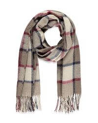 Forever 21 - Gray Fringed Plaid Scarf - Lyst