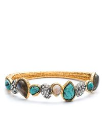 Alexis Bittar | Multicolor Turquoise Labradorite Hinge Bangle | Lyst