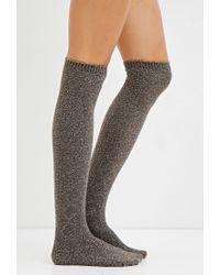 Forever 21 | Gray Cable Knit Over-the-knee Socks You've Been Added To The Waitlist | Lyst