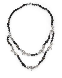 Alexis Bittar - Miss Havisham Liquid Crystal, 8Mm Grey Shell Pearl & Black Onyx Broken Glass Double-Strand Beade - Lyst