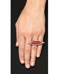Holly Dyment - Red Enamel Lip Ring - Multi - Lyst