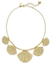 kate spade new york | Metallic 12K Gold-Plated Shore Thing Shell Collar Necklace | Lyst
