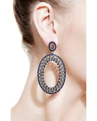 Bochic | Blue Diamond and Sapphire Earrings | Lyst
