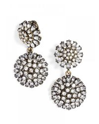 BaubleBar | Metallic Clip-on Crystal Dandelion Drops | Lyst