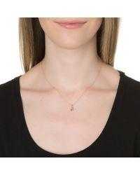 Dalla Nonna | Metallic Little Letter Necklace In Silver | Lyst