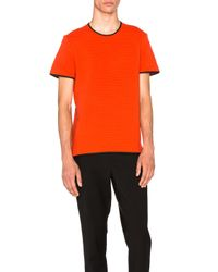 Alexander Wang | Red Fitted Crewneck Tee | Lyst