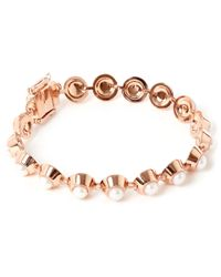 Eddie Borgo - Pink Rose Gold-plated Pearl Cabochon Bracelet - Lyst