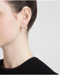 Yvonne Léon | Gray 18k Gold Four Pearl Lobe Earring | Lyst