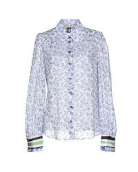 Class Roberto Cavalli - Gray Shirt - Lyst