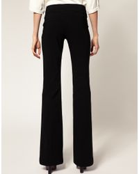 ASOS Collection | Black Asos Kick Flare Trousers with Button Detail | Lyst