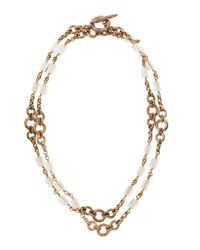 Stephen Dweck - Metallic Natural Quartz Carved Bronze Long Necklace - Lyst