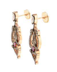 Sabine G   Pink Ruby And Diamond Earrings   Lyst