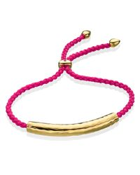Monica Vinader | Red Esencia Friendship Bracelet | Lyst