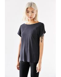 Silence + Noise - Black Joey Surplice-back Top - Lyst