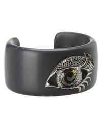 Stephen Webster - Black Envy Large Green Eye Cuff - Lyst