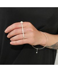 Dorota Todd - Metallic Kosmos Bangle White Pearl - Lyst