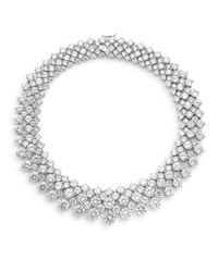 CZ by Kenneth Jay Lane | Metallic Brilliance Collar Necklace | Lyst