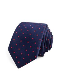 Thomas Pink | Blue Sullivan Spot Skinny Tie for Men | Lyst