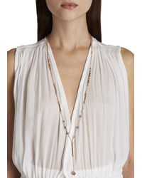 Eddie Borgo - Pink Rose Gold Plated Necklace - Lyst