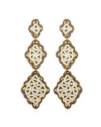 Suzanna Dai | Metallic Fes Drop Earrings, Gold/ivory | Lyst