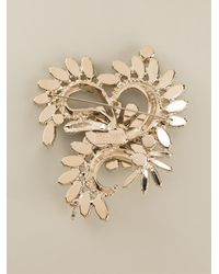 DSquared² - Metallic Flower Print Brooch - Lyst