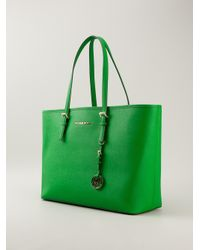MICHAEL Michael Kors. Women's Green Jet Set Tote