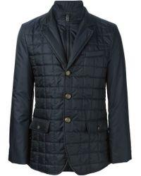 Dolce & Gabbana - Blue Padded Jacket for Men - Lyst