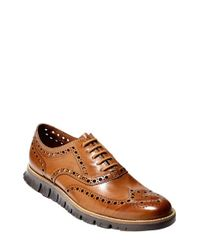 Cole Haan | Brown 'zerogrand' Wingtip for Men | Lyst