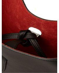 Jil Sander - Black Scarf Medium Leather Shoulder Bag - Lyst