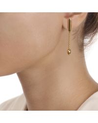 Monica Vinader | Metallic Skinny Bud Short Earrings | Lyst