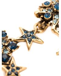Oscar de la Renta | Blue Crystal Embellished Star Necklace | Lyst