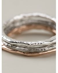 Bjorg - Metallic Stack Of Three Rings - Lyst
