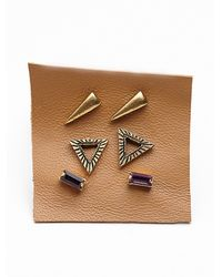 Free People - Purple Tiny 6 Pack Studs - Lyst