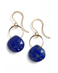 Melissa Joy Manning - Blue Semiprecious Stone Drop Earrings - Lyst