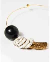 Maslo Jewelry - Metallic Baseline Necklace - Lyst