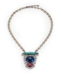 DANNIJO - Metallic Zayne Mixed Pendant Necklace - Lyst