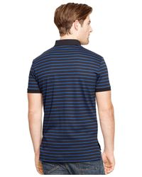 Polo Ralph Lauren | Blue Striped Pima Soft-touch Polo for Men | Lyst