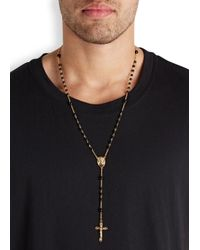 Dolce & Gabbana | Metallic Gold Plated Brass Rosary Necklace for Men | Lyst