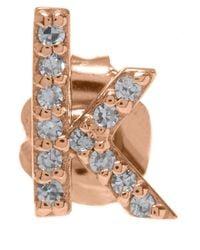 KC Designs | Pink Rose Gold Diamond K Single Stud Earring | Lyst