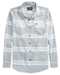 Hurley | Blue Debate Burnout Stripe Long-sleeve Shirt for Men | Lyst
