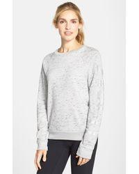 Rebecca Minkoff | Gray 'ana' Logo Print Sweatshirt | Lyst