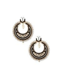Givenchy | Black Glass Pearl Statement Earrings | Lyst
