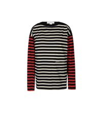 Stella McCartney - Red Stripes Long Sleeved T-Shirt - Lyst