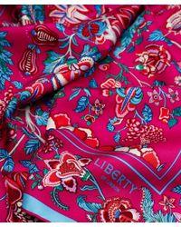 Liberty - Dark Pink Tree Of Life Silk Scarf - Lyst