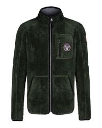 Napapijri | Green Zip Fleece for Men | Lyst