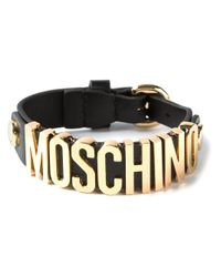 Moschino | Metallic Logo Letters Bracelet | Lyst