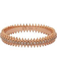 Eva Fehren - Pink Champagne Diamond & Rose Gold Zipper Band - Lyst