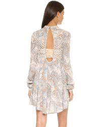 Free People | Natural Sweet Thing Printed Tunic | Lyst