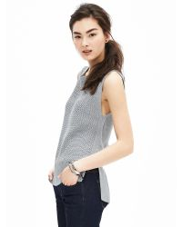 Banana Republic | Metallic Textured Sweater Tank | Lyst